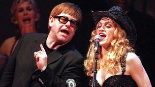 Elton John et Madonna au temps de l'amitié...  (SMITH KEN/SIPA)