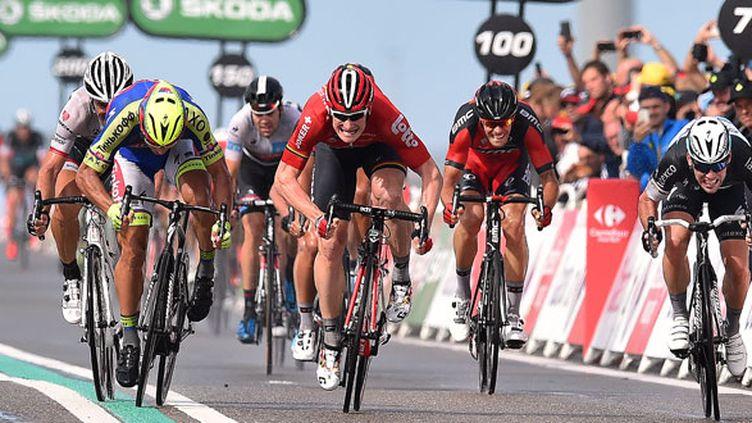 Le sprint de Zélande lors de la deuxième étape remporté par André Greipel