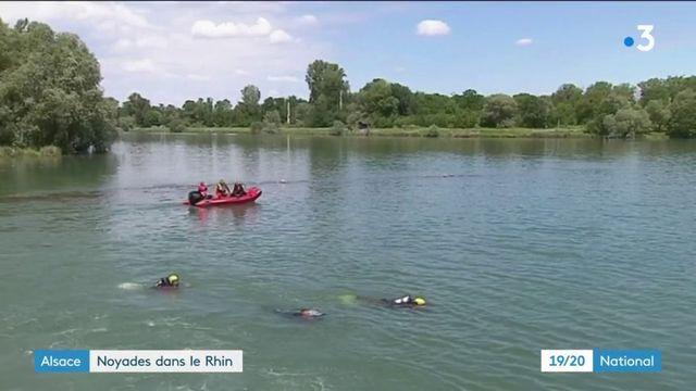 Bas-Rhin : trois morts, dont une fillette, dans le chavirement d'un canot sur le Rhin