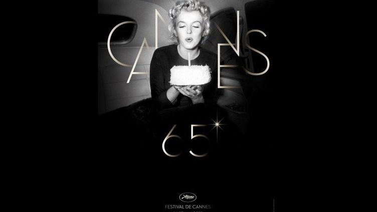 Marilyn Monroe souffle la bougie du 65e Festival de Cannes pour l'affiche officielle  (DR)