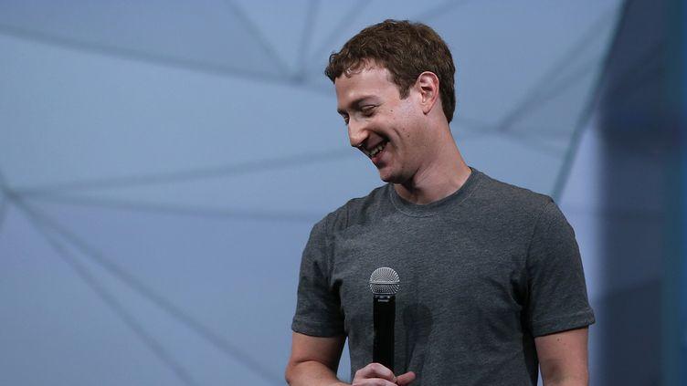 Le PDG de Facebook Mark Zuckerberg lors d'une conférence à San Francisco (Californie), mercredi 30 avril. (JUSTIN SULLIVAN / GETTY IMAGES NORTH AMERICA / AFP)