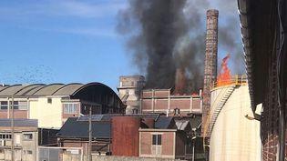 L'usine d'huile de Dieppe (Seine-Maritime) touchée par une explosion le samedi 17 février 2018. (HERVE COLOSIO / FRANCE 3 NORMANDIE)