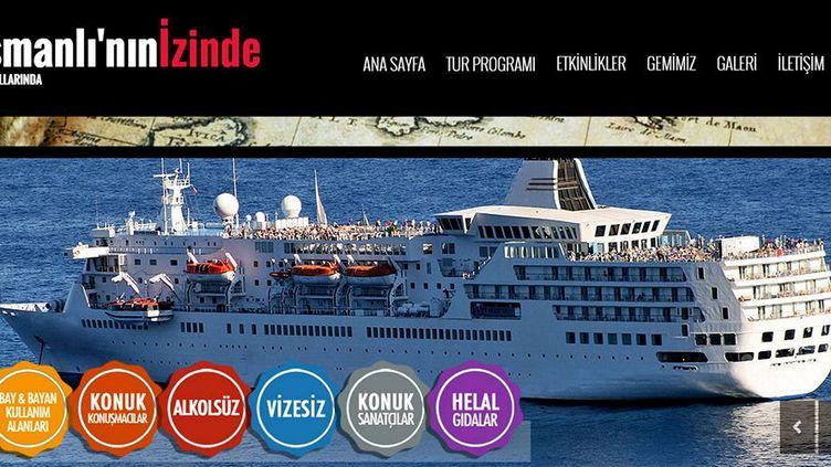 Image du site turc proposant une croisière «halal» (DR)