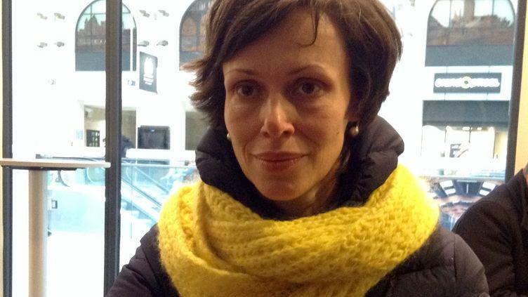 La militante russe des droits humains,Nadezhda Kutepova. (ANNE-LAURE BARRAL / RADIO FRANCE)