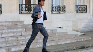 Nicolas Hulot quitte le palais de l'Elysée le 14 septembre 2017. (LUDOVIC MARIN / AFP)