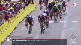 Des coureurs lors du Tour de France 2021. (France 2)