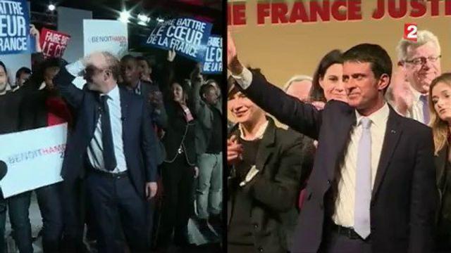 Primaire à gauche : appels à la mobilisation pour Benoît Hamon et Manuel Valls