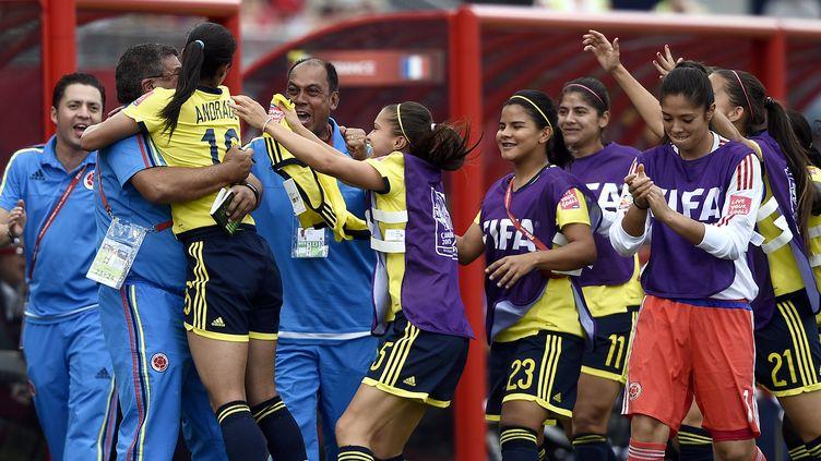 La sélection colombienne a réussi le match parfait face aux Bleues (FRANCK FIFE / AFP)