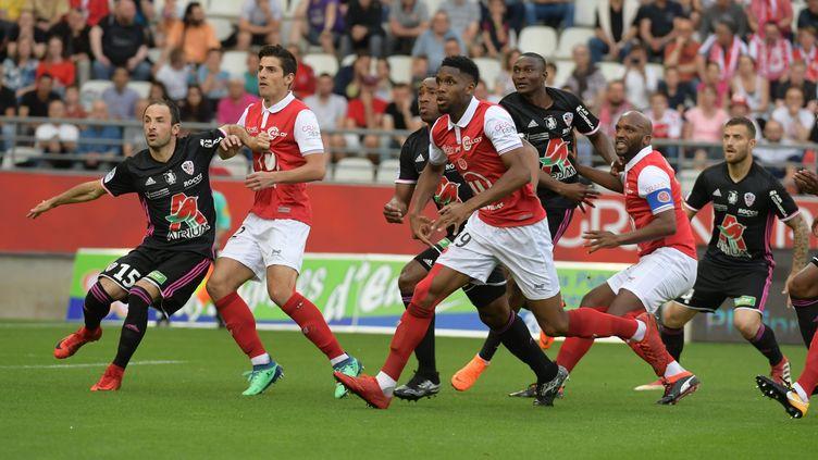 Reims retrouve la Ligue 1 en battant Ajaccio (CHRISTIAN LANTENOIS L'UNION/L'ARDENNAIS / MAXPPP)