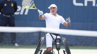 Stéphane Houdet, lors de la finale de l'US Open du simple masculin en fauteuil, le 08 septembre 2019, à New York. (ELSA / GETTY IMAGES NORTH AMERICA)