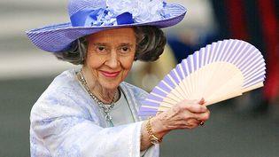 La reine Fabiola de Belgique, le 22 mai 2004, à Madrid (Espagne). (PEDRO ARMESTRE / AFP)