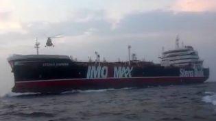 Le navire britannique Stena Impero (capture d'écran d'une vidéo diffuséesur le site officiel ducorps des Gardiens de la révolution islamique) (HO / SEPAH NEWS)