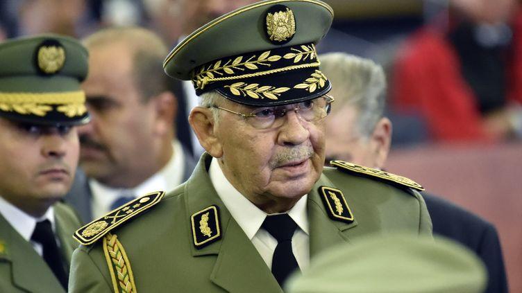 Le général Ahmed Gaïd Salah à Alger (Algérie), le 19 décembre 2019. (RYAD KRAMDI / AFP)