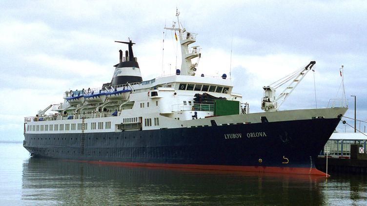 """Le """"Lyubov Orlova"""", un ancien navire de croisière, est à la dérive dans les eaux internationales depuis janvier 2013. (DIETMAR HASENPUSCH / DPA)"""