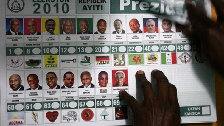 Le premier tour de l'élection présidentielle en Haïti s'est tenu le 28 novembre 2010. (AFP - Hector Retamal)