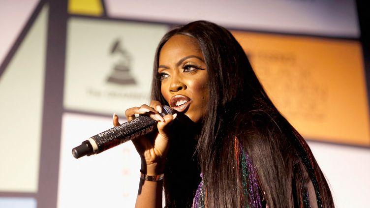 La chanteuse Tiwa Savage le 9 février 2017 à Los Angeles (États-Unis). (RANDY SHROPSHIRE / GETTY IMAGES NORTH AMERICA)