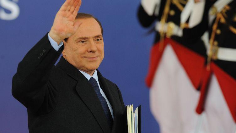 Le chef du gouvernement italien, Silvio Berlusconi, au G20 de Cannes, le 4 novembre 2011. (WITT / ALFRED / SIPA)