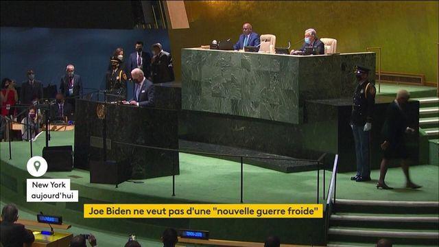 États-Unis : Joe Biden s'est exprimé pour la première fois à la tribune de l'ONU