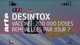 Vaccin : il est faux de dire que plus 200 000 doses n'ont pas été administrées (ARTE/2P2L)