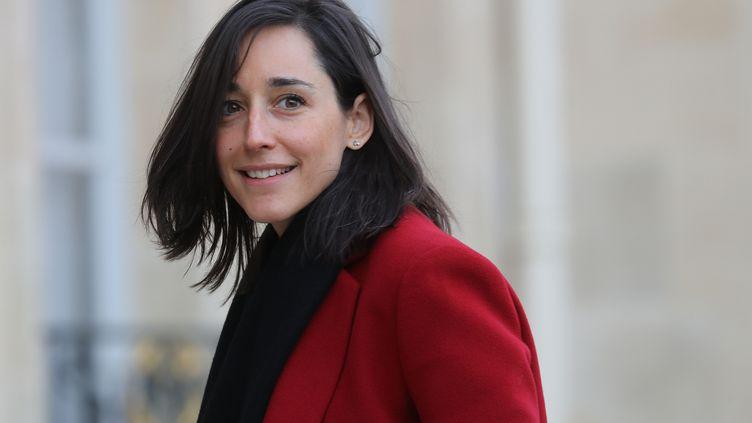 La secrétaire d'Etat Brune Poirson à son arrivée au Conseil des ministres, le 15 janvier 2020. (LUDOVIC MARIN / AFP)