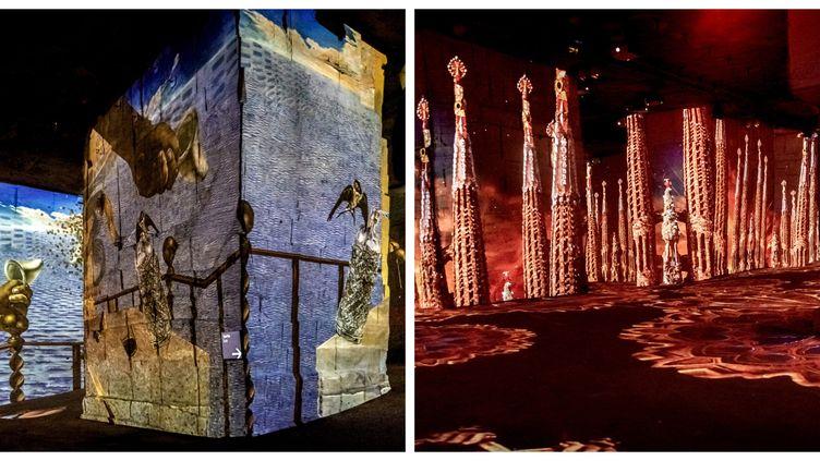 Dali et Gaudi aux Carrières de Lumières (Salvador Dalí, Fundació Gala-Salvador Dalí, ADAGP 2020  © Culturespaces / E. Spiller //Culturespaces / E. Spiller)
