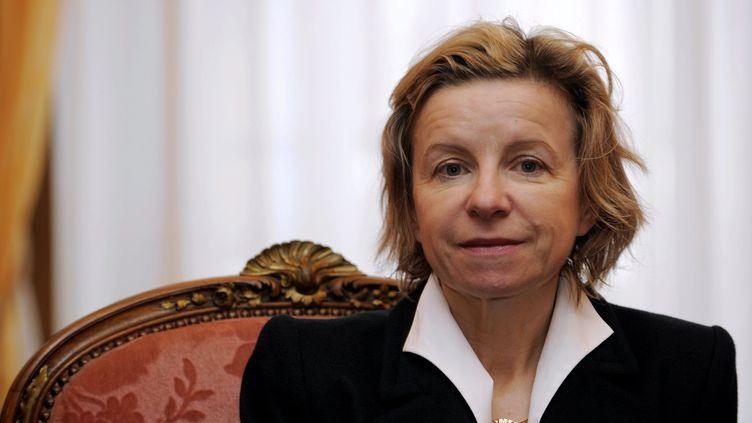Jeanne-Marie Prost, médiatrice nationale du crédit aux entreprises, à la préfecture de Meurthe-et-Moselle, à Nancy, le 13 janvier 2014. (MAXPPP)