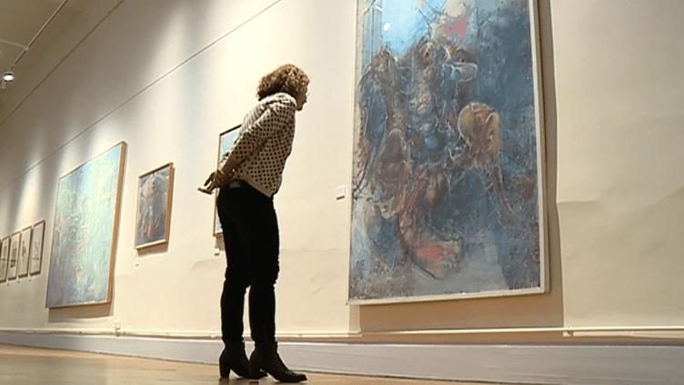 """Exposition """"Dado, de l'intime au mythe""""  (Capture d'image France 3/Culturebox)"""