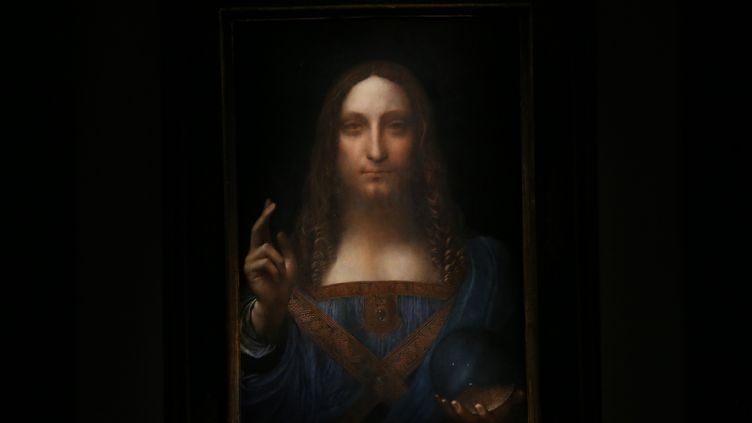 Le Salvator Mundi, attribué à Léonard De Vinci a été vendu 450 millions de dollars en 2017. (MOHAMMED ELSHAMY / ANADOLU AGENCY)