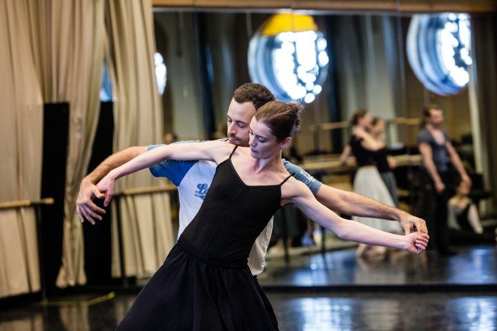 Benjamin Millepied et Aurélie Dupont en répétition  (Agathe Poupeney/Opéra national de Paris)