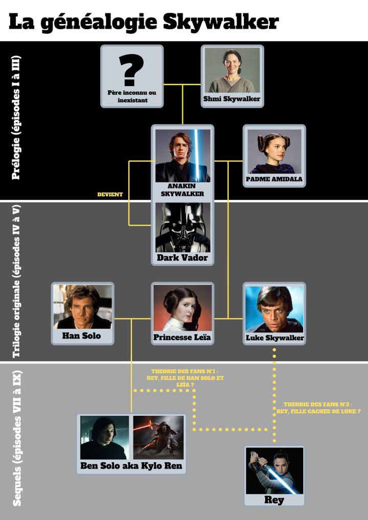La généalogie des Skywalker. (LUCAS FILM/WALT DISNEY PICTURES LUCASFILM/COLLECTION CHRISTOPHEL/ARCHIVE 7EME ART/PHOTO12)