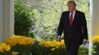 Le président américain, Donald Trump, à la Maison Blanche, à Washington (Etats-Unis), le 10 avril 2017. (MANDEL NGAN / AFP)