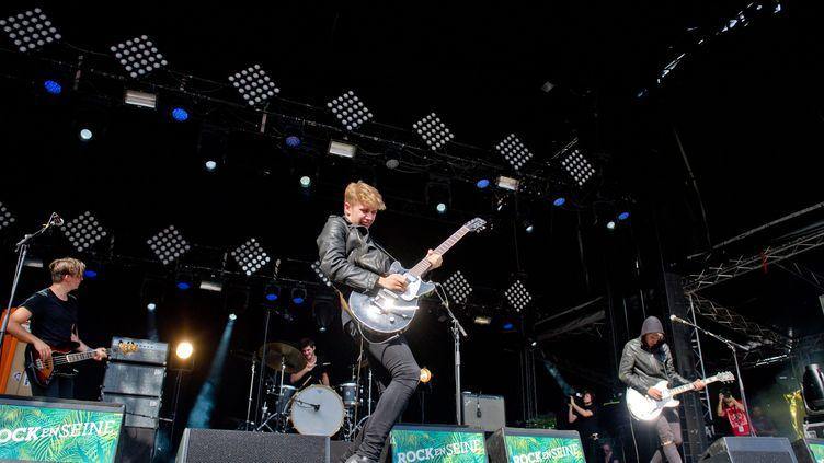 Les Last Train ont déjà écumé les scènes de grands festivals : Rock en Seine, le Download, les Eurockéennes... (SAMUEL DIETZ / MAXPPP)