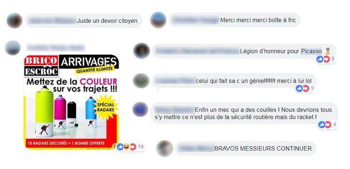 Des commentaires sur Facebook. (FACEBOOK)