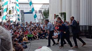 """L'adaptation théâtrale de la BD """"Zaï Zaï Zaï Zaï"""" jouée au festival """"Les Invites"""" à Villeurbanne, le 16 septembre 2021. (Les Invites)"""