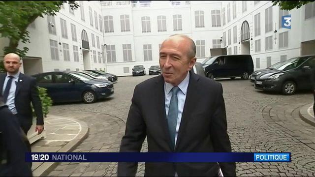 Gouvernement : Gérard Collomb et Richard Ferrand, premiers pas dans leurs ministères