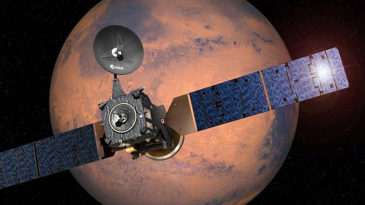 Le module d'atterrissage Schiaparelli s'est écrasé sur Mars le 19 octobre 2016. (ESA / D.DUCROS / AFP)