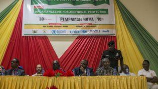 Lancement de la campagne de vaccination contre le paludisme au Ghana en 2019. (CRISTINA ALDEHUELA / AFP)