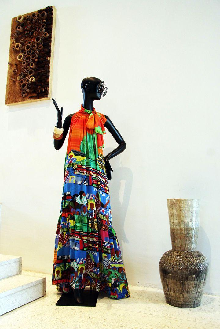 A l'intérieur de la boutique Alara.  (EMMANUEL AREWA / AFP)
