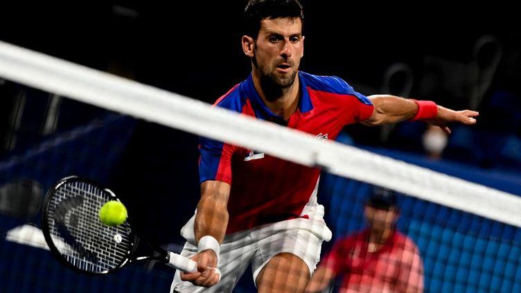 Novak Djokovic vise le Grand Chelem calendaire à l'US Open. (ALEXEY FILIPPOV / SPUTNIK)