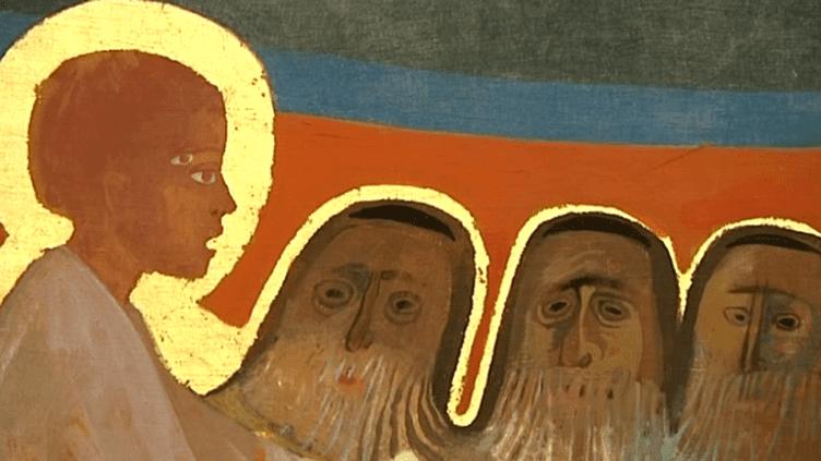 Une fresque d'Arcabas à l'église de Saint-Hugues  (France 3/Culturebox)