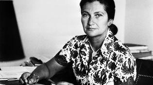 Simone Veil, le 1 avril 1974. (- / AFP)