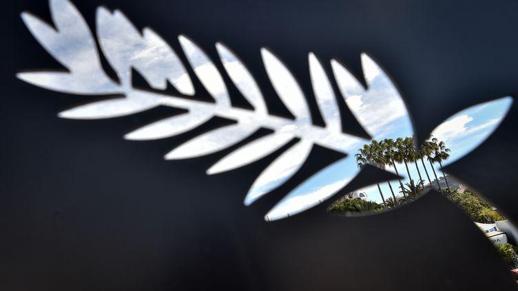 """Une palme, symbole du Festival de Cannes. La 73e édition a été annulée à cause de la pandémie. Une sélection de 56 films bénéficieront du label """"Cannes2020"""". (LOIC VENANCE / AFP)"""