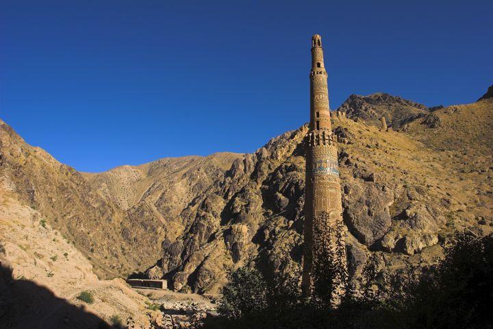 Le minaret de Jam, en Afghanistan, patrimoine mondial de l'Unesco (ici en 2007) (JANE SWEENEY / ROBERT HARDING HERITAGE / AFP)
