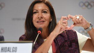 Anne Hidalgo, maire de Paris, le 13 septembre 2017, après l'annonce de l'attribution des JO 2024 à Paris. (CRIS BOURONCLE / AFP)