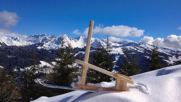 La luge Pahu inventée par un artisan de la vallée du Giffre. (JEROME GUILLOT)