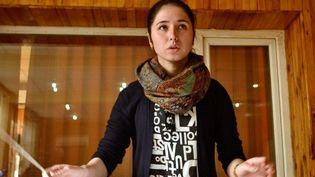 Negina Khpalwak dirige l'orchestre afghan Zohra   (Mohammad Jawad / DPA)