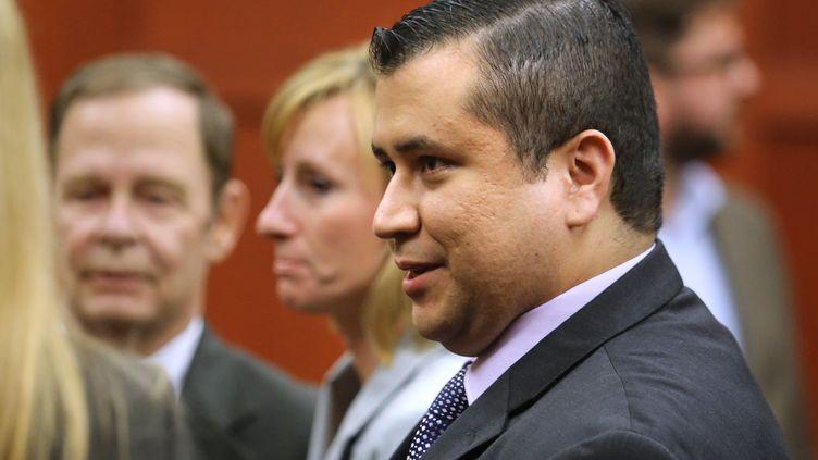 George Zimmerman après l'annonce de son acquittement du meurtre du jeune Trayvon Martin, le 13 juillet 2013 à Sanford, en Floride (Etats-Unis). (GETTY IMAGES NORTH AMERICA)