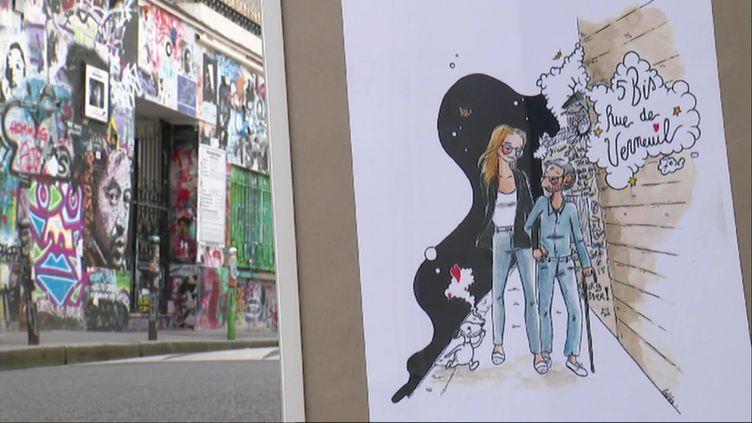 Lola a mis en dessin l'histoire d'amitié entre Gainsbourg et deux jeunes filles qui ont sonné à la porte de sa maison, rue Verneuil (France 3)