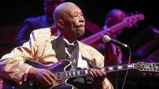 BB King en avril 2014 lors d'un concert à St Louis, aux Etats-Unis.  (Sarah Conard/AP/SIPA)