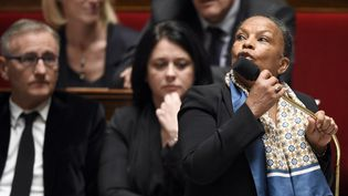 La ministre de la Justice, Christiane Taubira, à l'Assemblée nationale, le 20 janvier 2015. (MARTIN BUREAU / AFP)